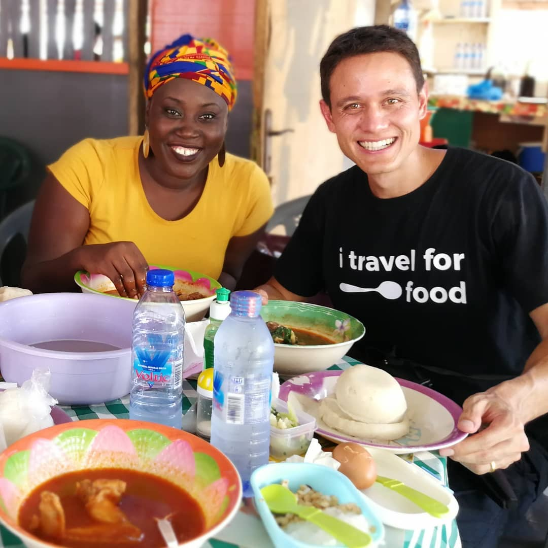 Mark Wiens in ghana