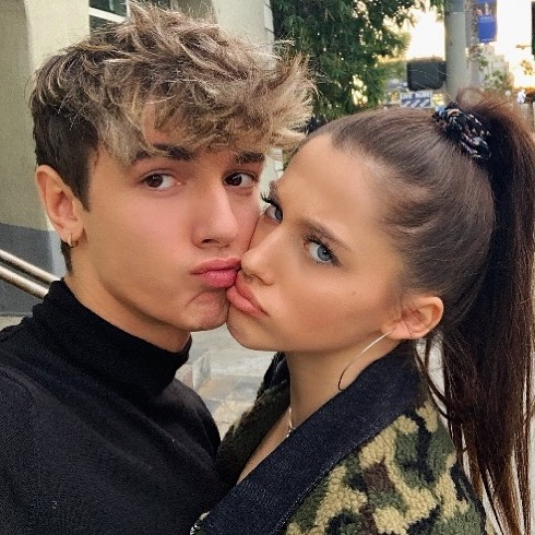 Bryce Hall and Elle Danjean
