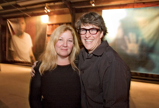Rachel Maddow and her partner, Susan Mikula