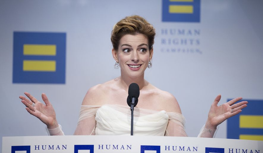 anne hathaway Human Rights Campaign National Equality Award