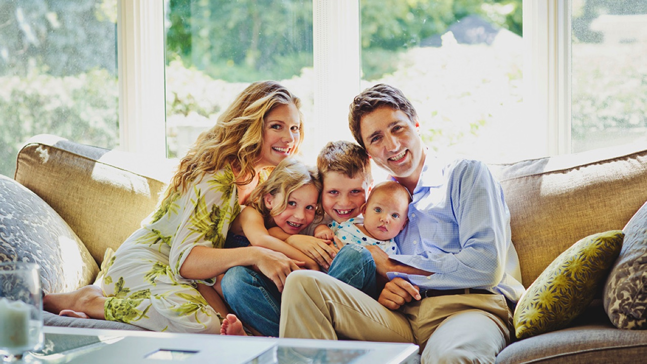 Justin Trudeau's Wife and Children