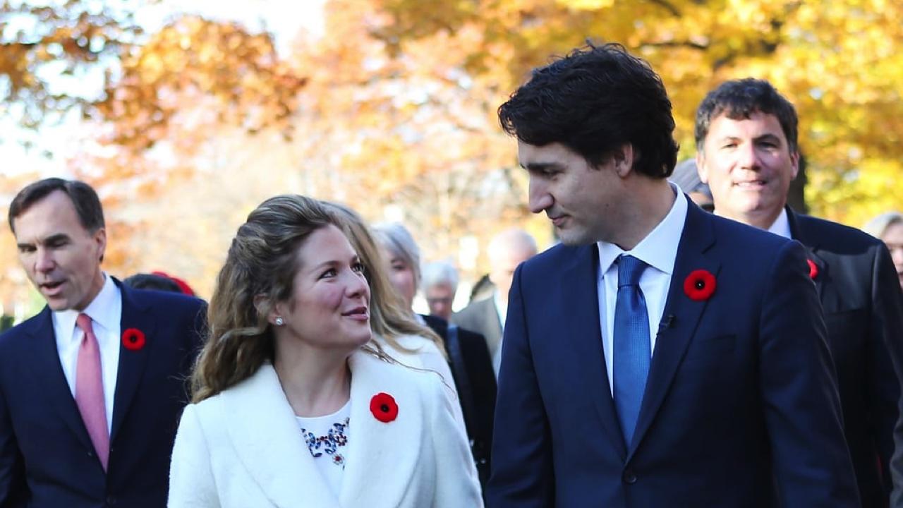 Sophie Grégoire and Justin Trudeau