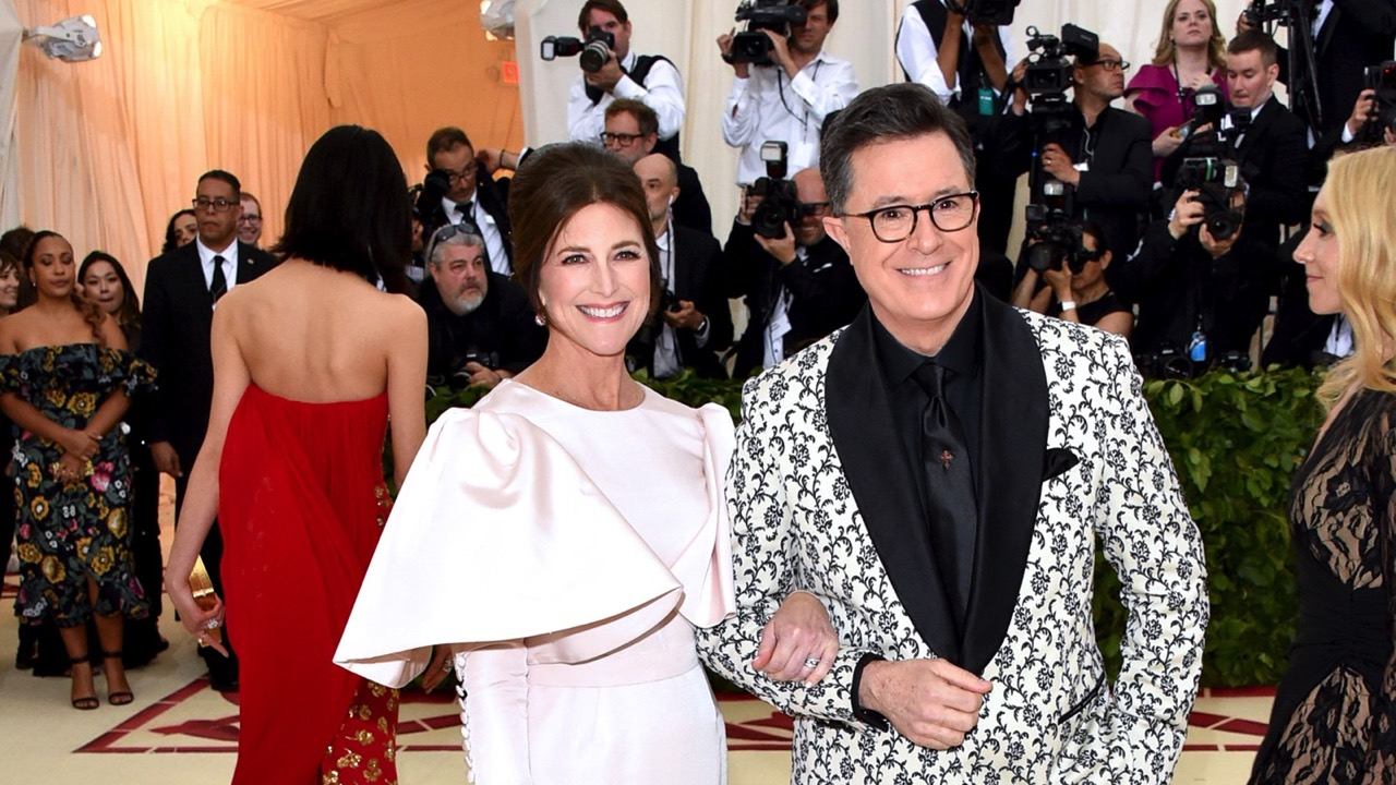 Stephen Colbert and Evelyn McGee