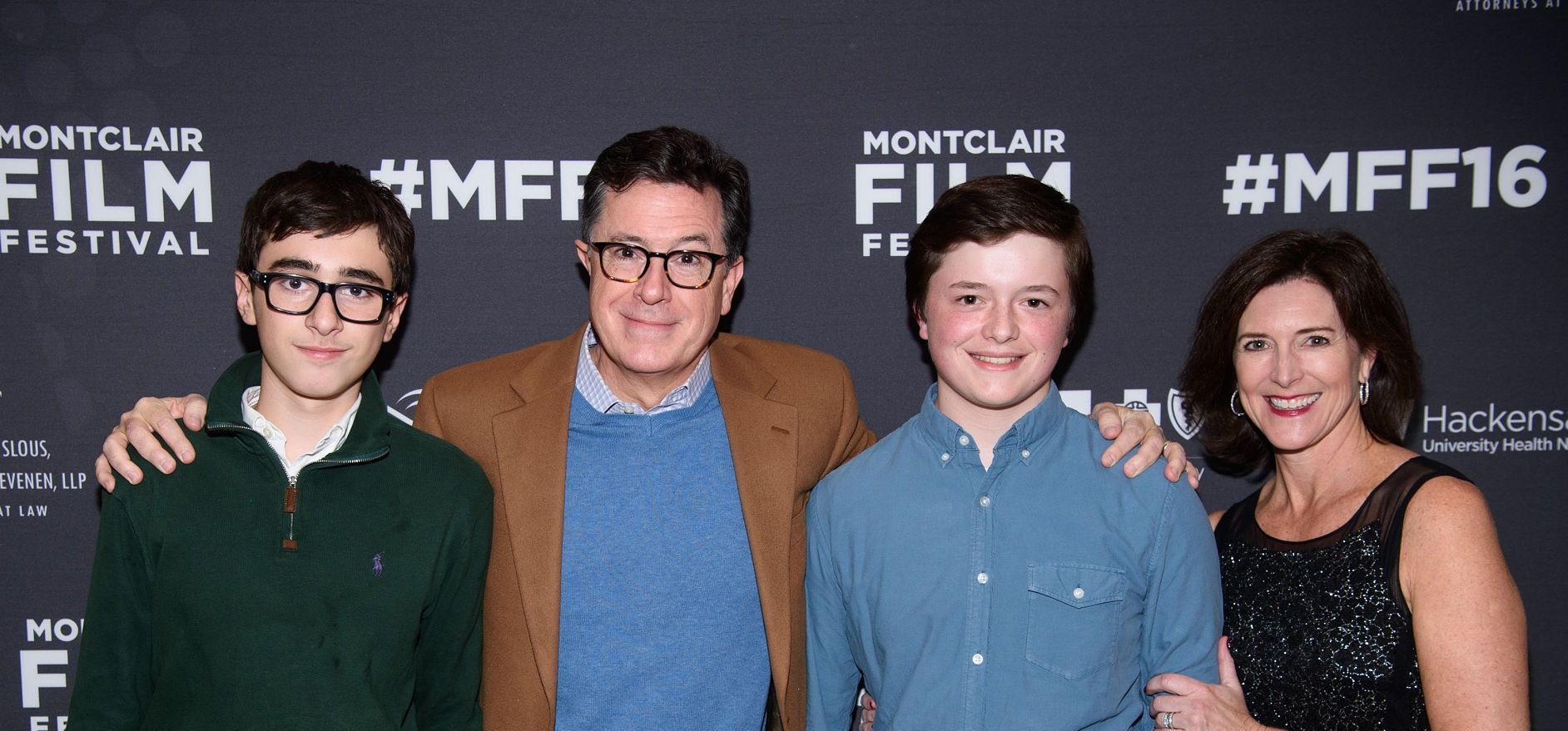 Stephen Colbert and family