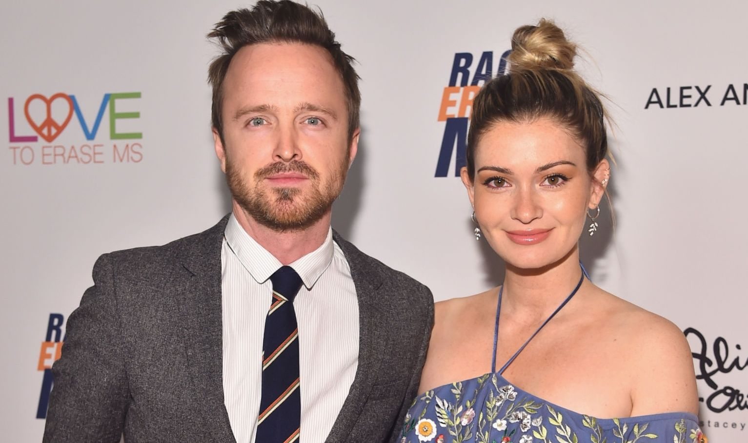 Aaron Paul and his wife