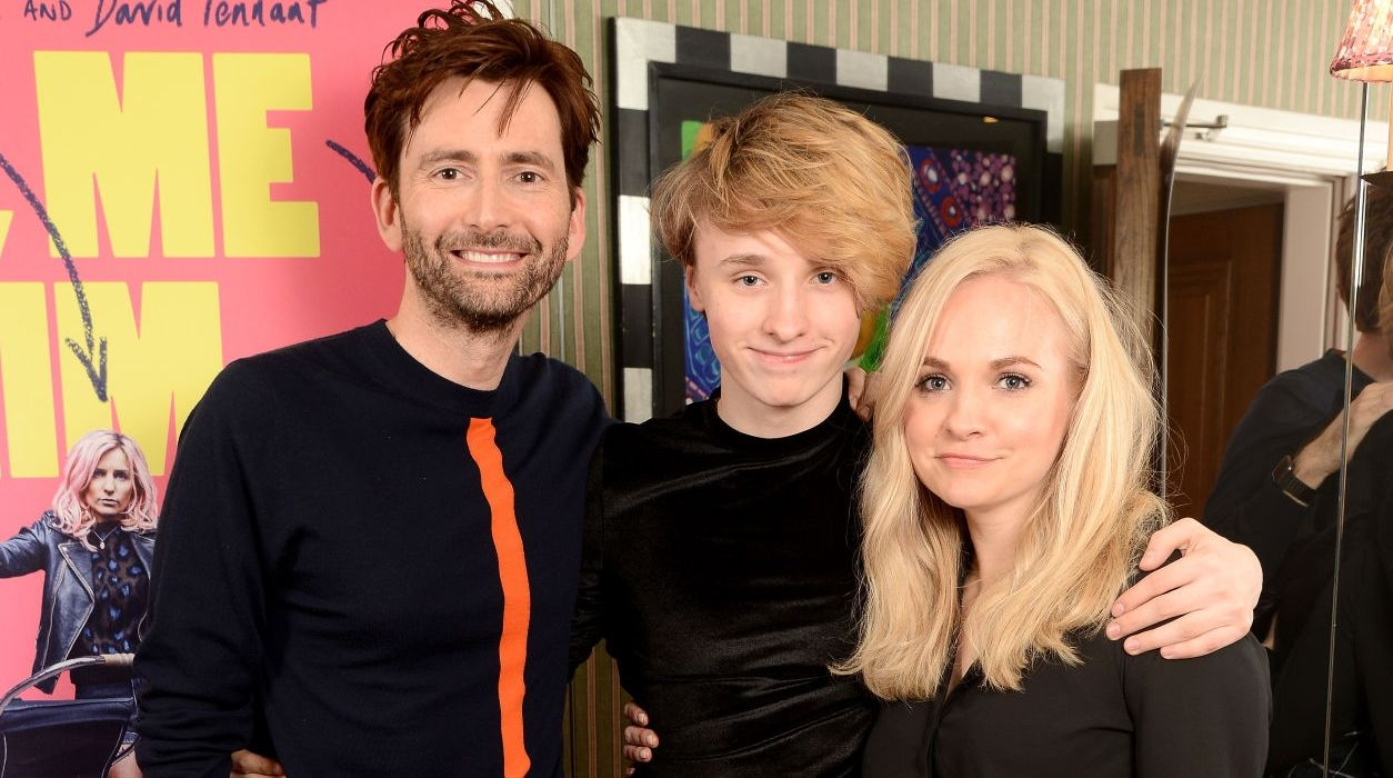 David Tennant, Ty Peter Tennantand and Georgia Moffett