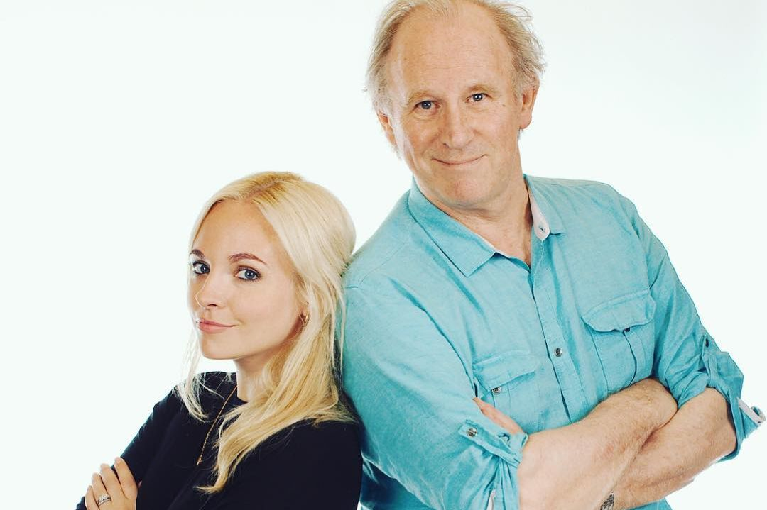 Georgia Moffett and Peter Davison