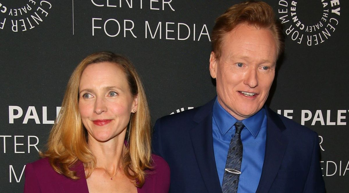 Liza Powel and Conan O'Brien