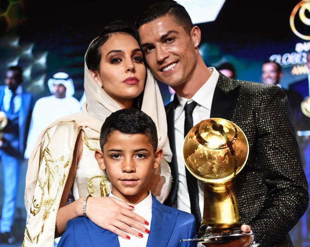 Ronaldo, Georgina Rodriguez and Cristiano Junior