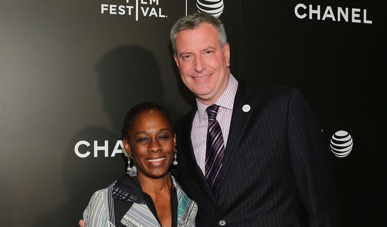 Bill de Blasio and Chirlane McCray