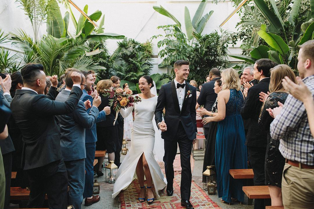 Grant Gustin and Andrea Thoma wedding