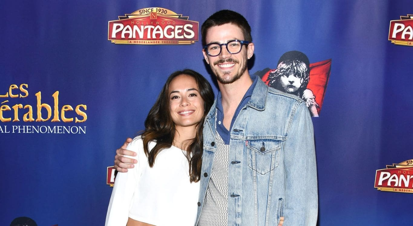 Grant Gustin and Andrea Thoma