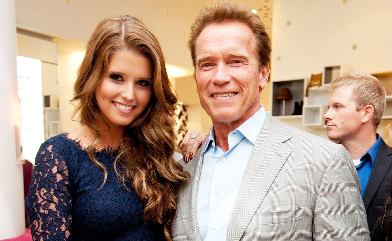 Katherine and Arnold Schwarzenegger