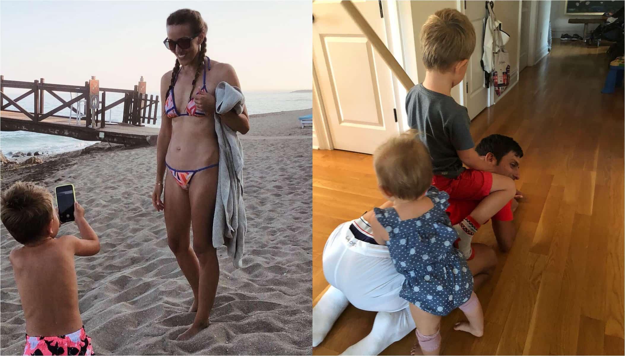 Novak Djokovic wife and kids