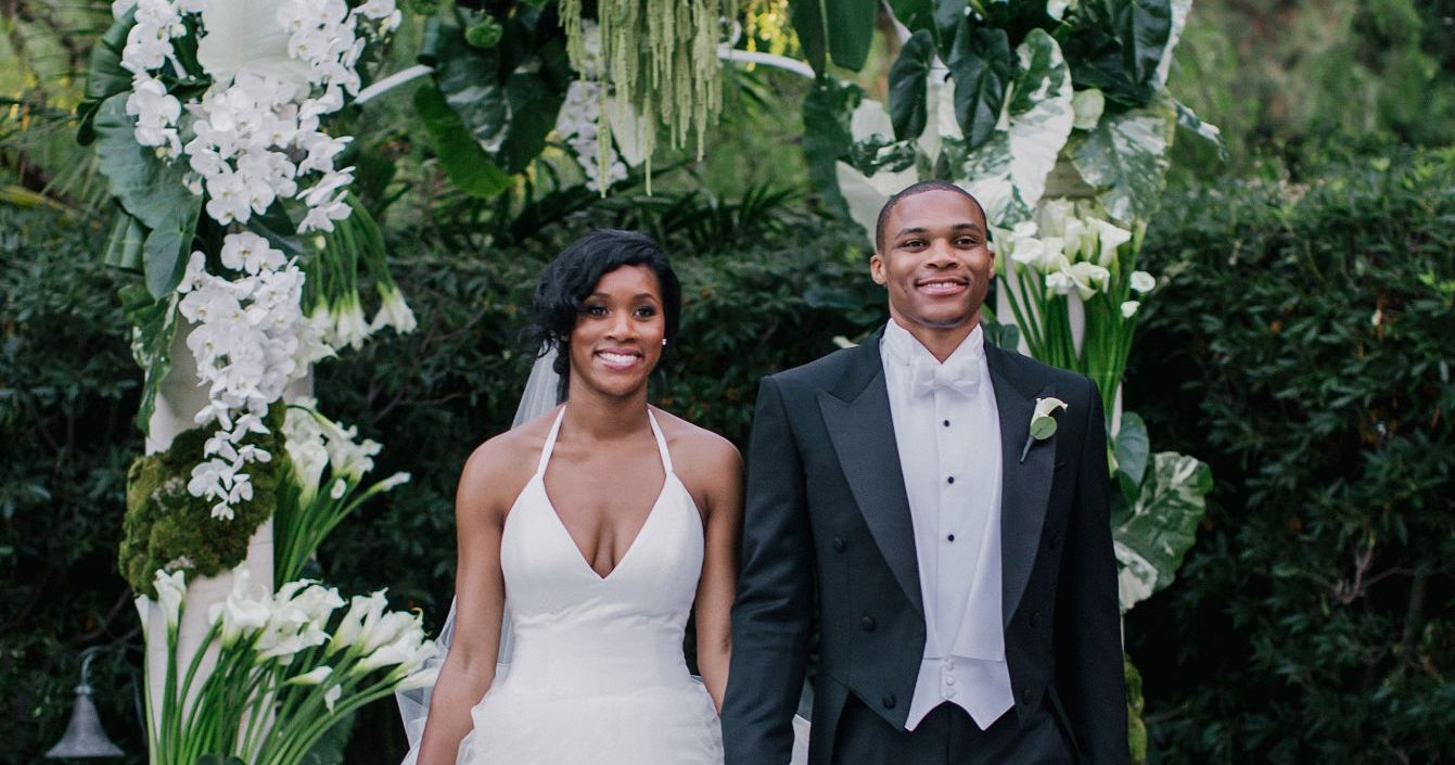 Russell Westbrook and Nina Earl's wedding