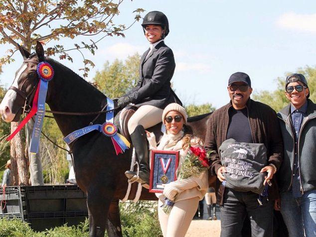 Lori Harvey equestrian