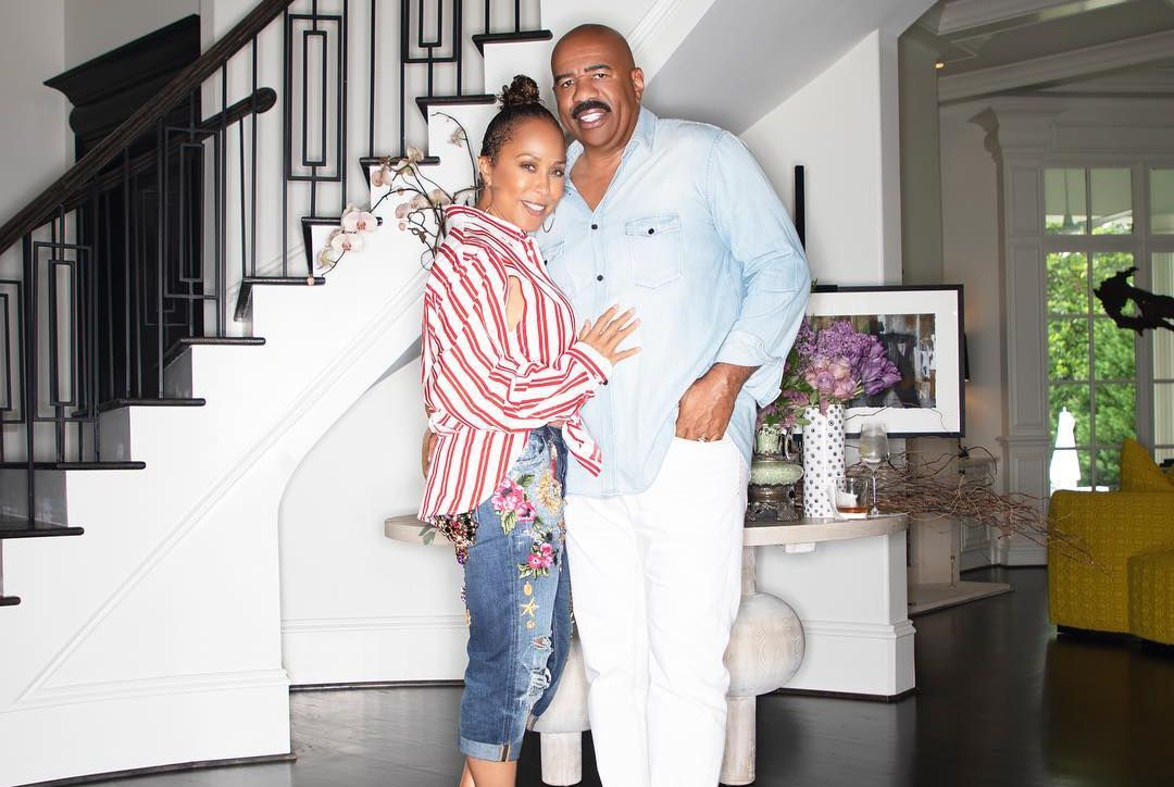 Marjorie Elaine Harvey and Steve Harvey
