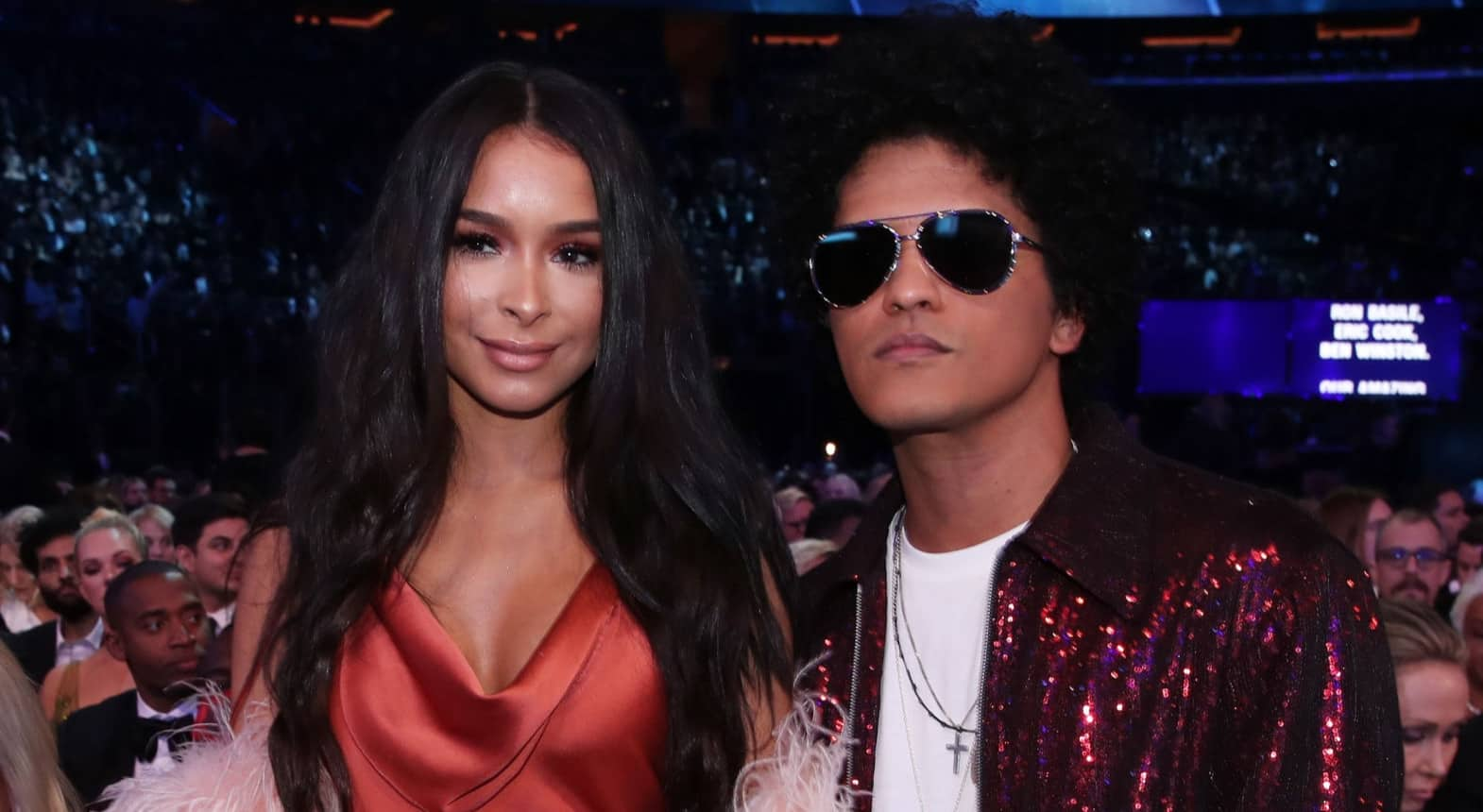 Jessica Caban and Bruno Mars