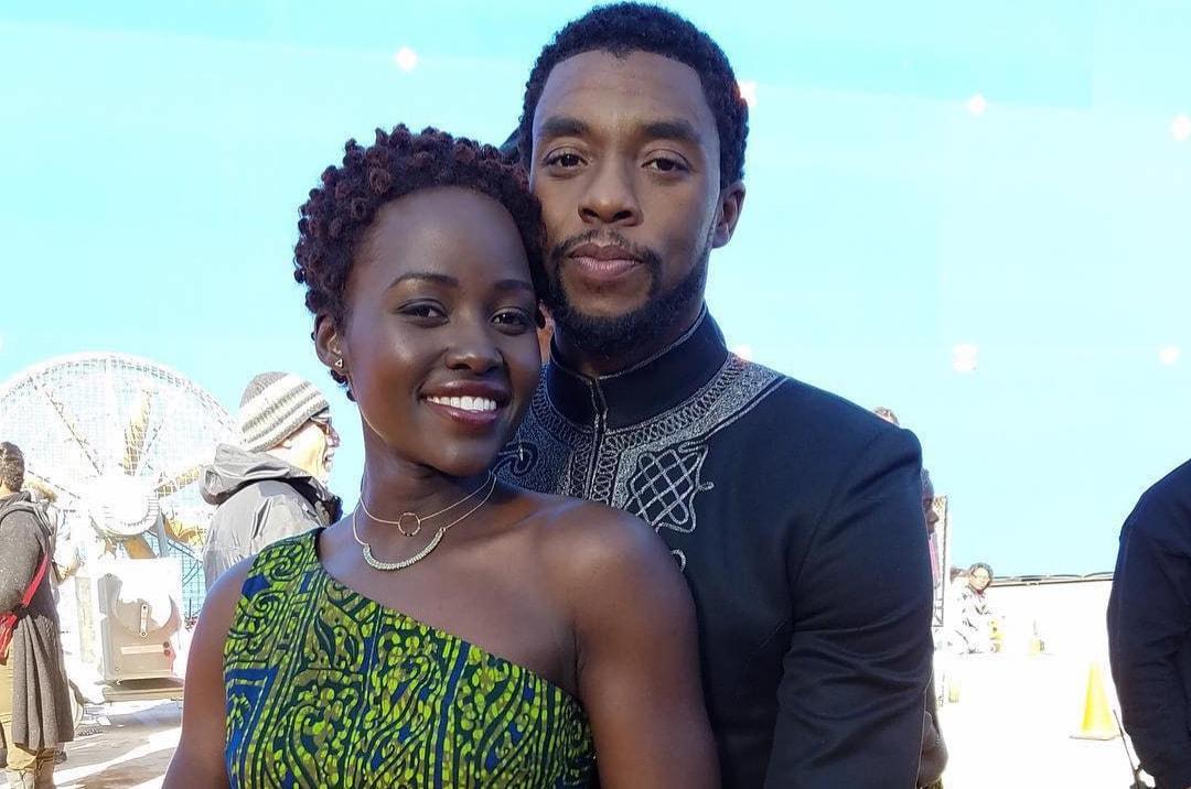 Chadwick Boseman and Lupita Nyong'o