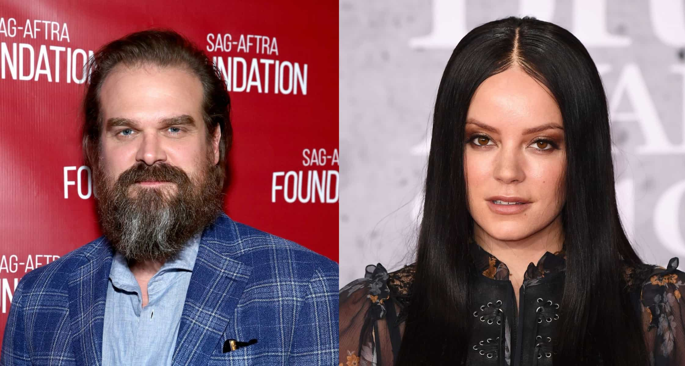 David Harbour and Lily Allen