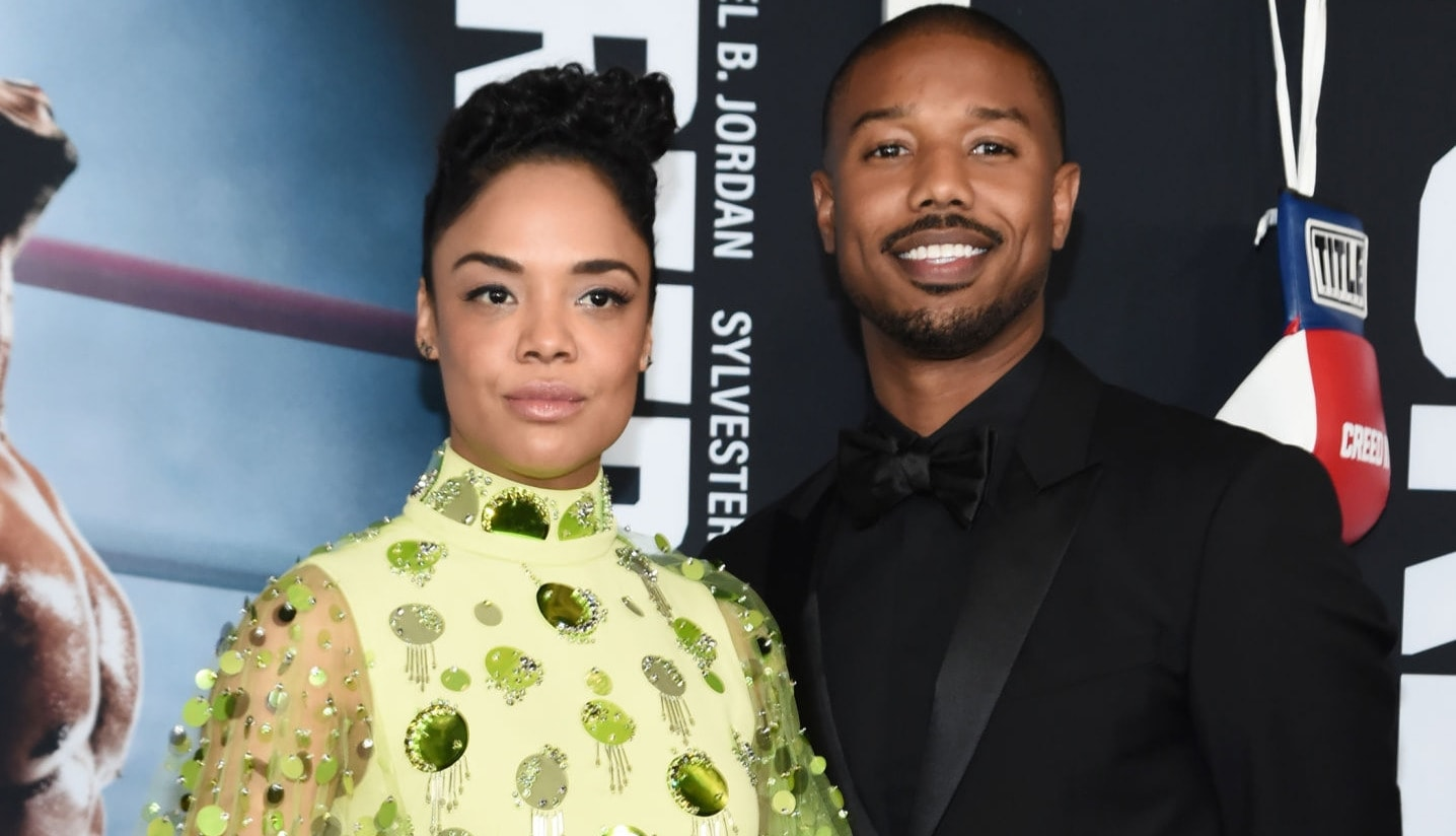 Tessa Thompson and Michael B. Jordan
