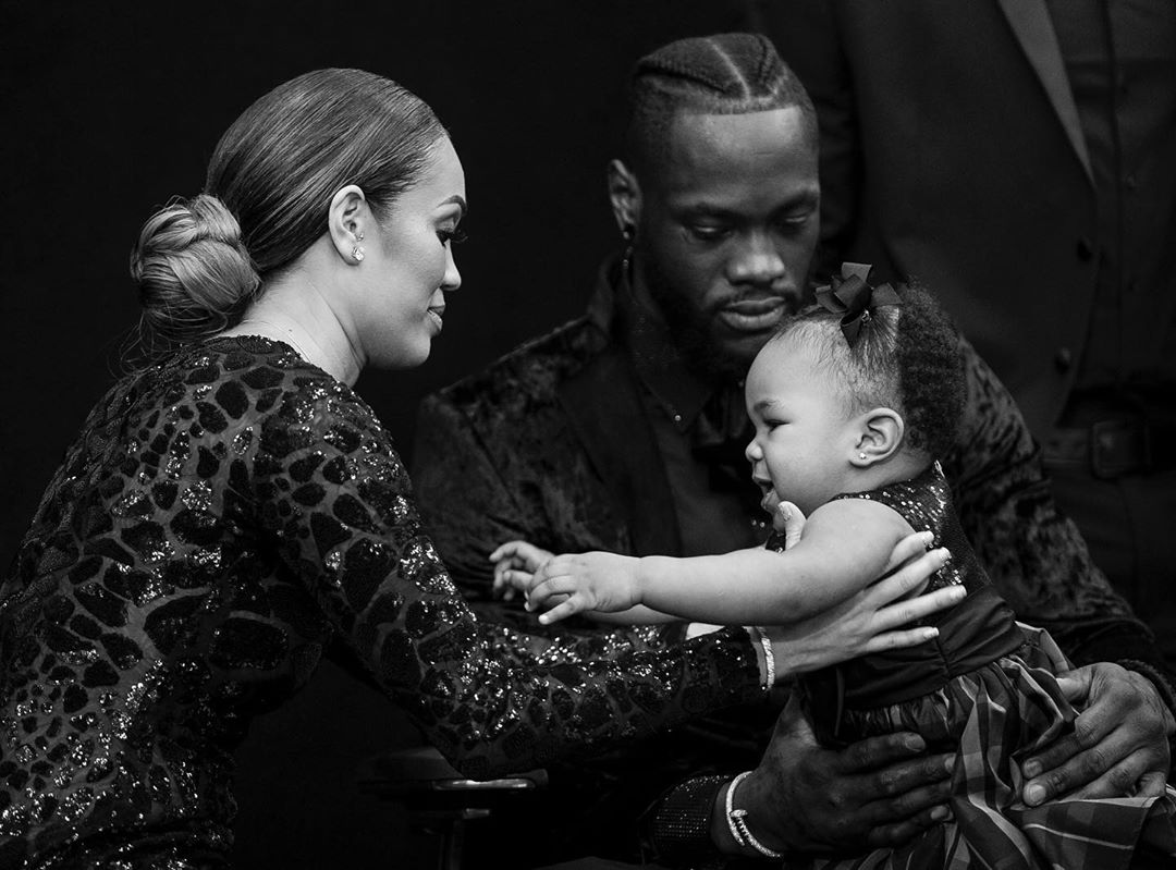 Deontay Wilder and Telli Swift and Kaorii