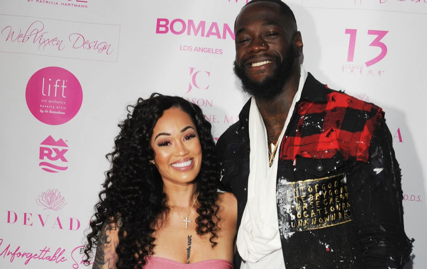 Telli Swift and Deontay Wilder