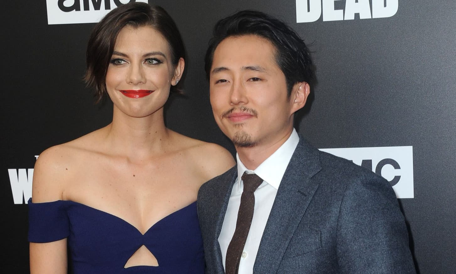 Lauren Cohan and Steven Yeun