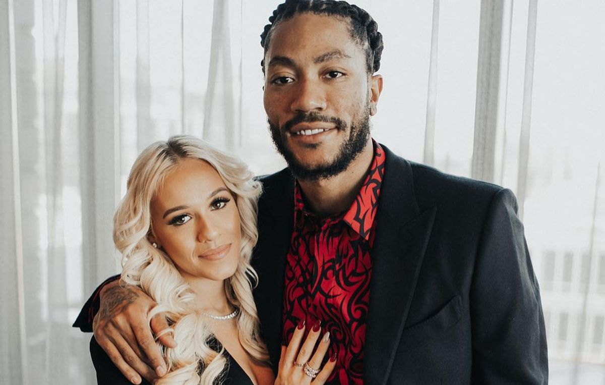 Alaina Anderson and Derrick Rose