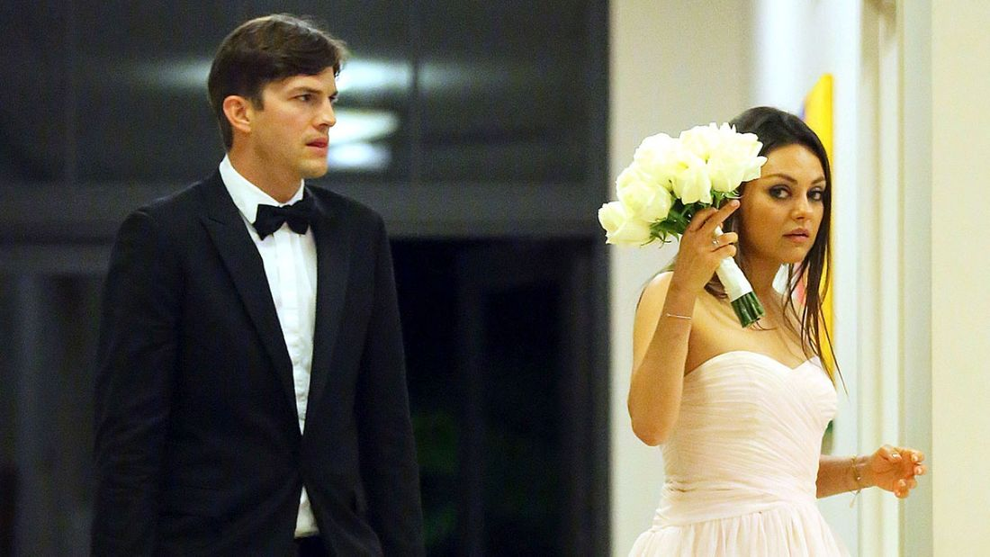 Mila Kunis and Ashton Kutcher's wedding