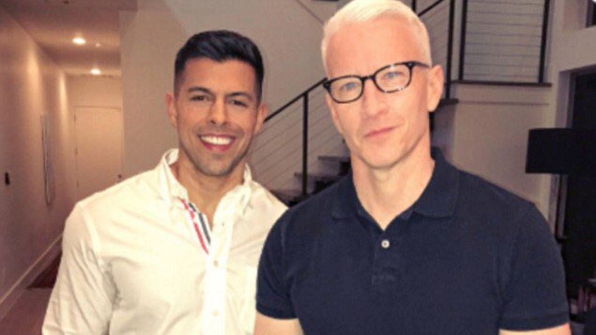 Victor Lopez and Anderson Cooper