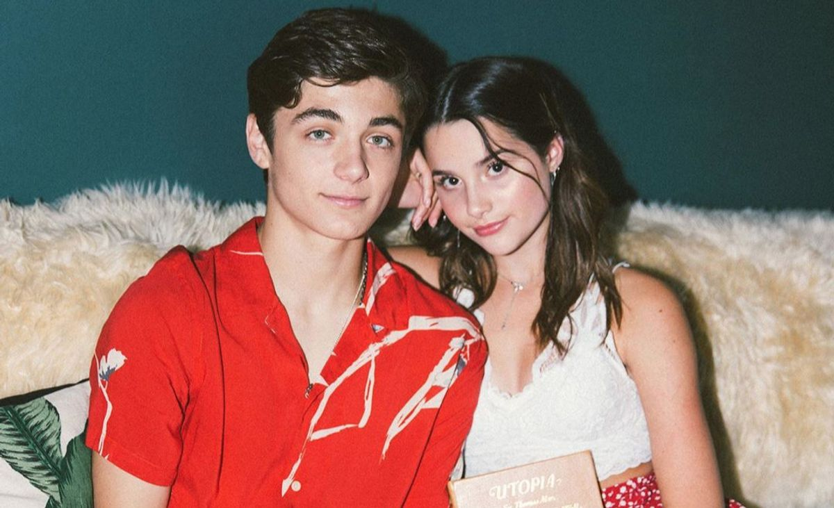 Asher Angel and Anna LeBlanc