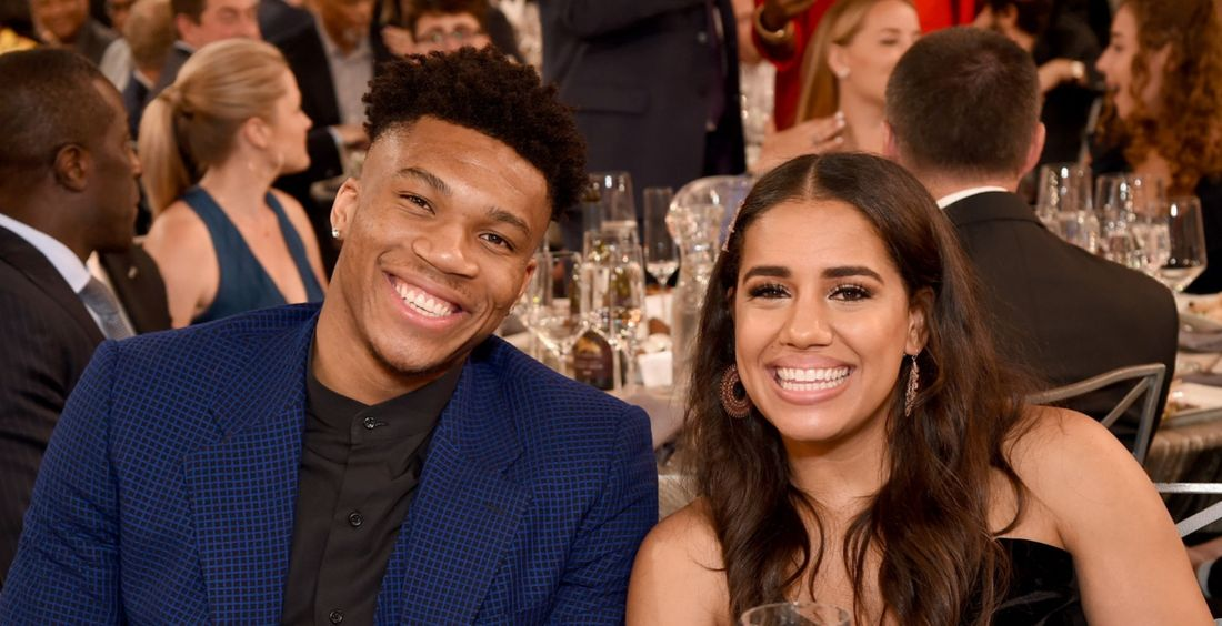Giannis Antetokounmpo and Maria Danae