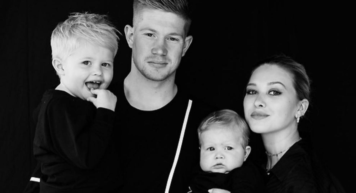 Kevin De Bruyne, wife and kids