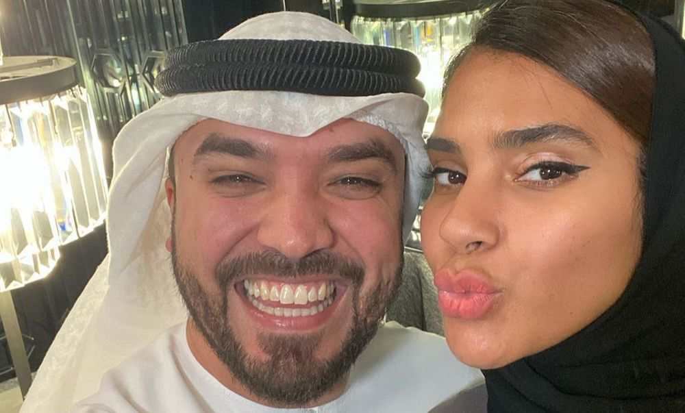 Khalid Al Ameri and his wife Salama
