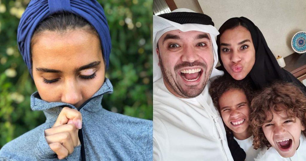 Salama, kids and her husband Khalid Al Ameri