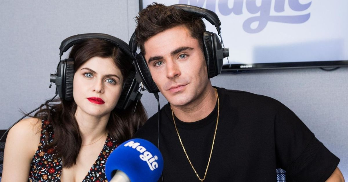 Alexandra Daddario and Zac Efron