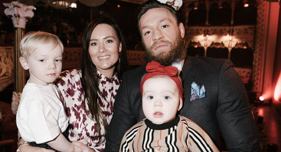 Conor Mcgregor and his wife and kids