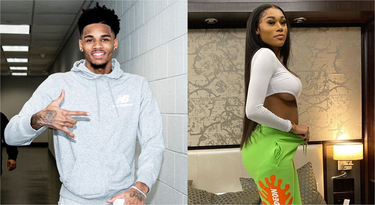 Dejounte Murray and Jania Meshell