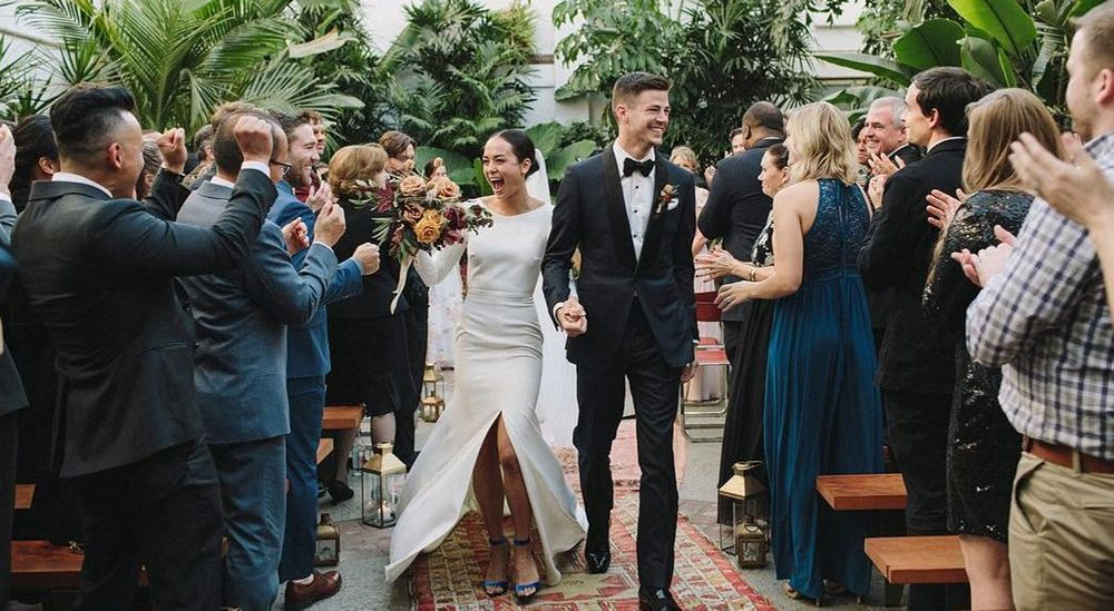 Grant Gustin and Andrea Thoma's wedding