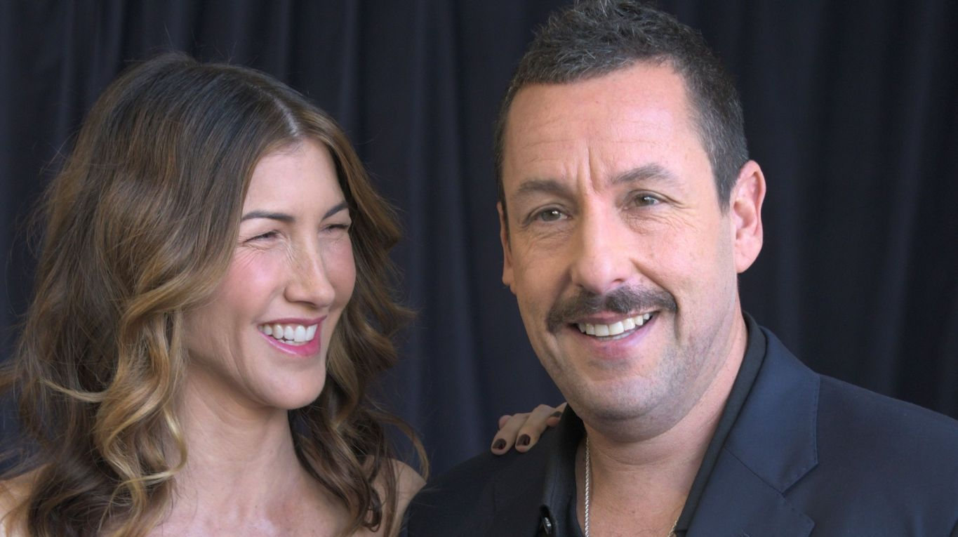 Jackie and Adam Sandler