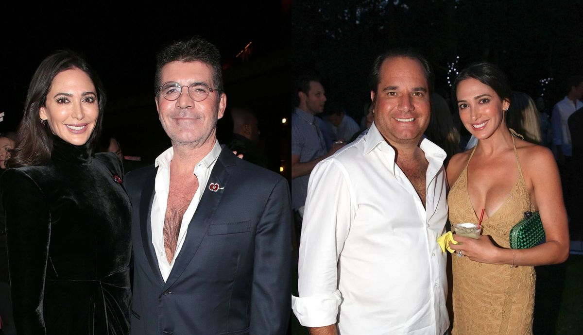 Simon Cowell, Lauren and Andrew Silverman