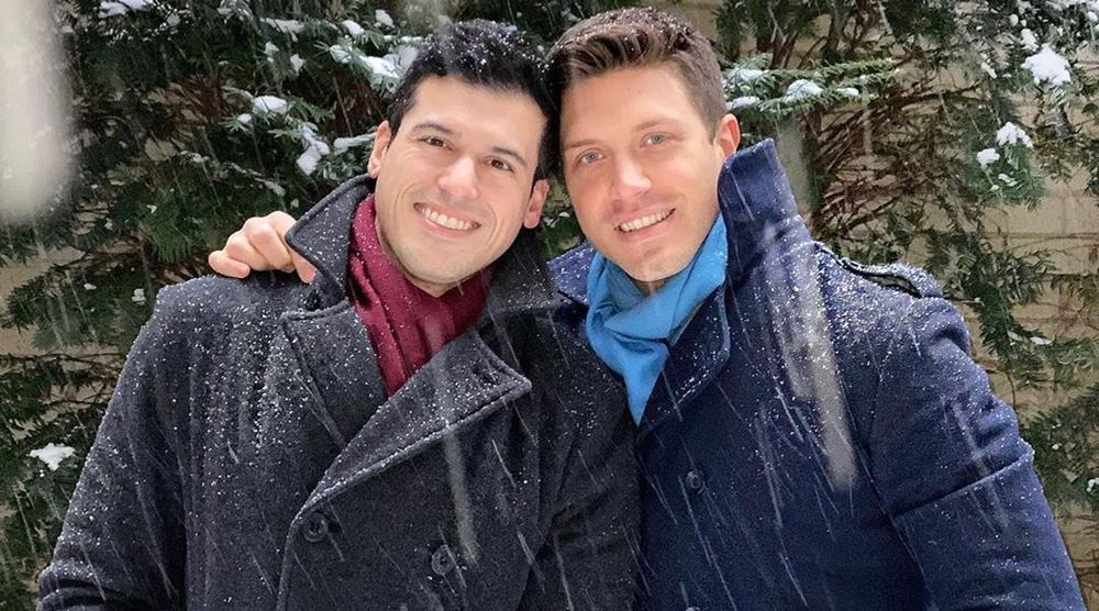 Gio Benitez and his husband Tommy DiDario