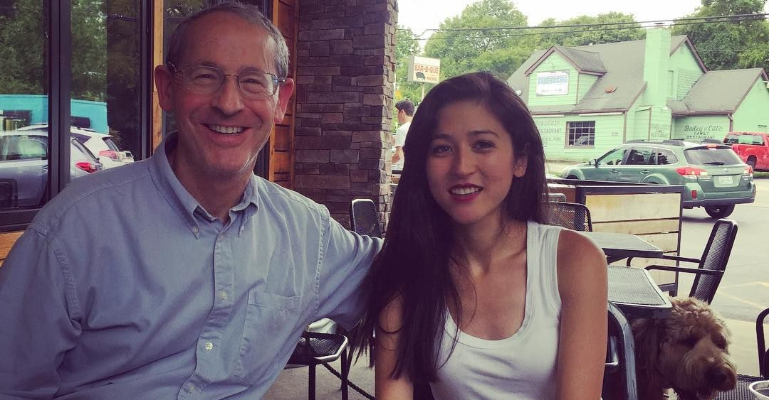 Mina Kimes and her father
