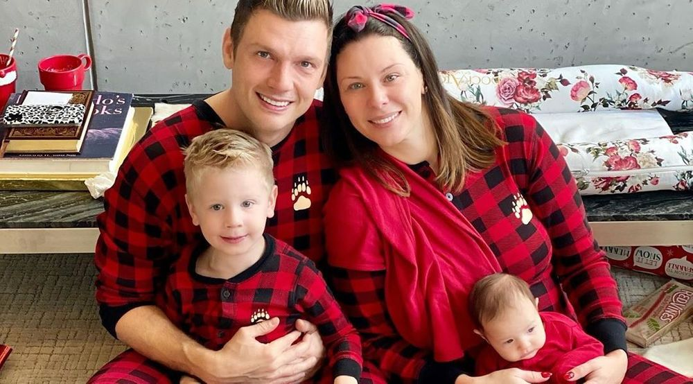 Nick Carter, Lauren Kitt and kids