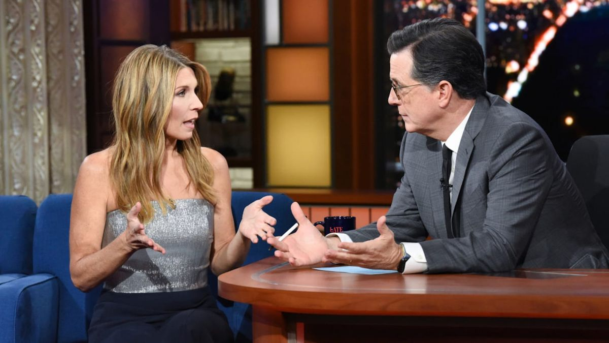 nicolle wallace  and stephen colbert