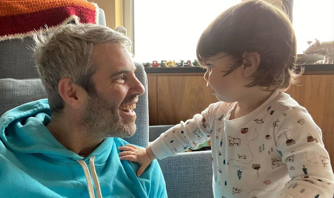 Andy Cohen and his son Benjamin