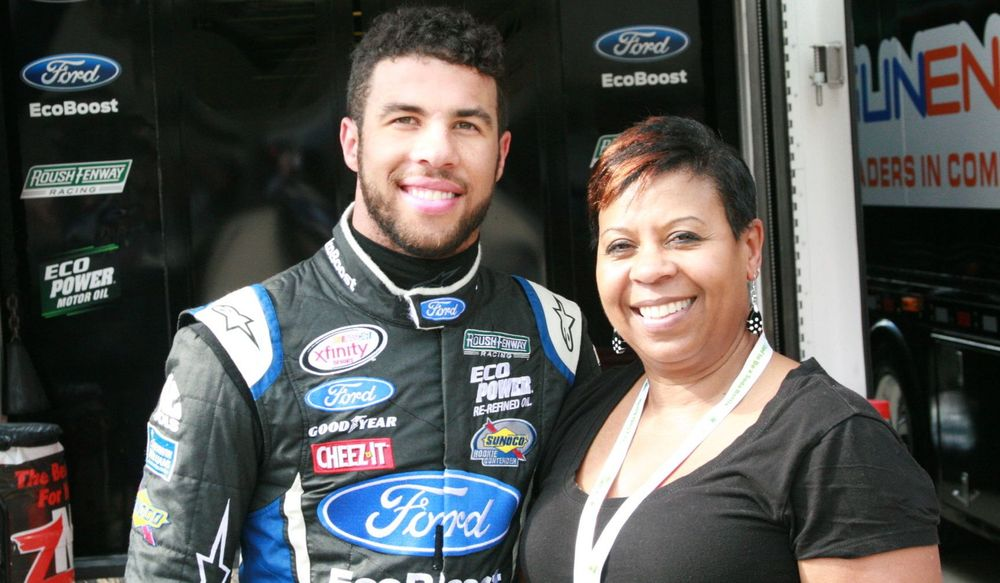 Bubba Wallace and his mother Desiree Wallace