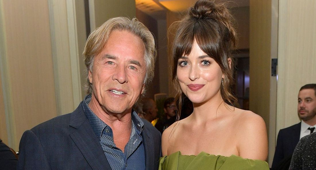 Don Johnson and Dakota Johnson