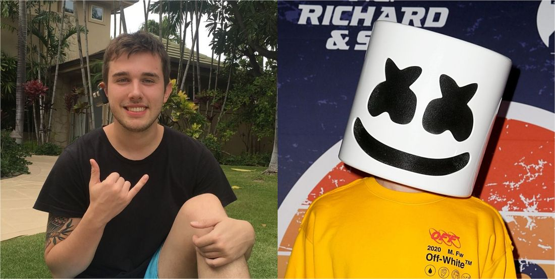 Chris Comstock and Marshmello